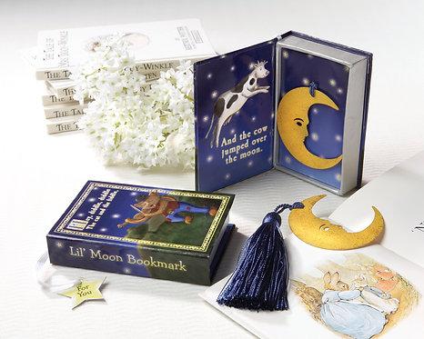 """""""Over the Moon"""" Ay Şeklinde Kitap Ayıracı Şeklinde Hediyelik Nikah Şekeri"""