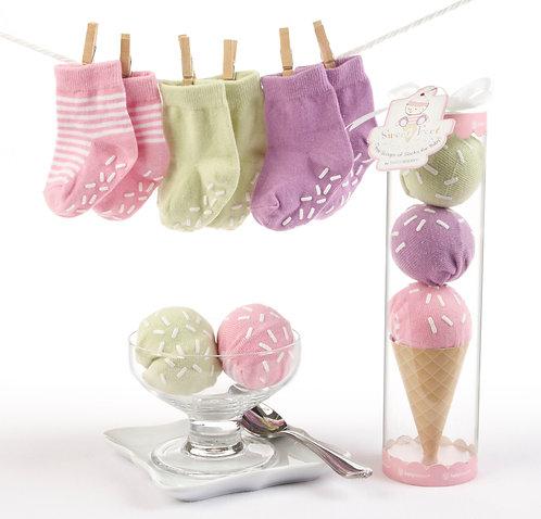 """""""Sweet Feet"""" Üç Top Çorap Hediye Seti"""