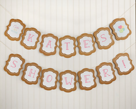 Cute as Button Kraft Banner