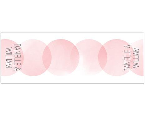 Pink Circles Table Runner