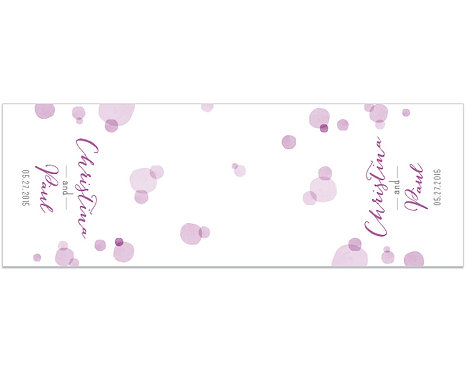 Orchid Dots Table Runner