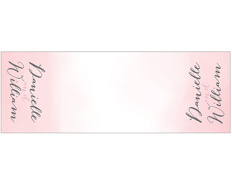 Pink Water Color Table Runner