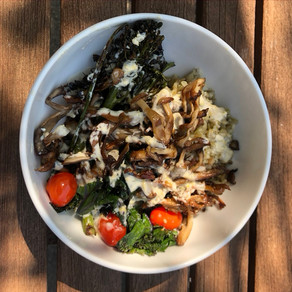Hearty Freekeh with Roasted Veggies