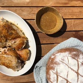 Wine-Braised Chicken with Sage