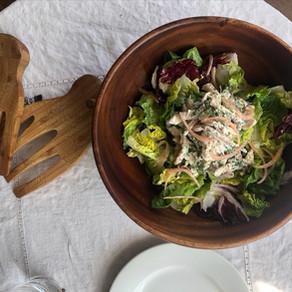 Tarragon Dandelion Chicken Salad