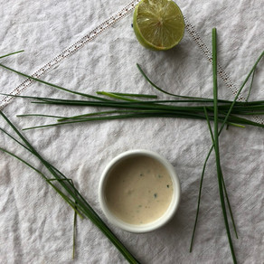 Lime-Tahini-Chive Sauce
