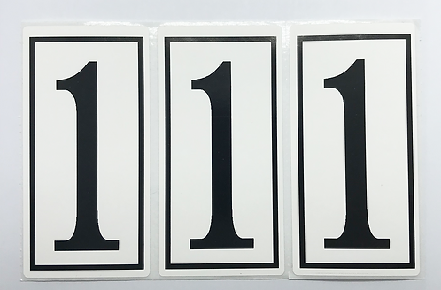 Wheelie Bin Number Stickers