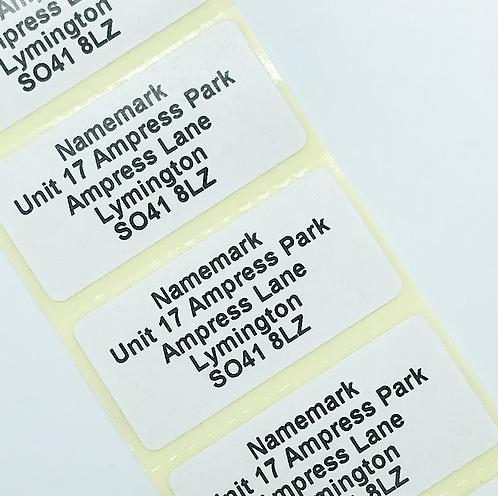 White Address Labels (50mm x 25mm)