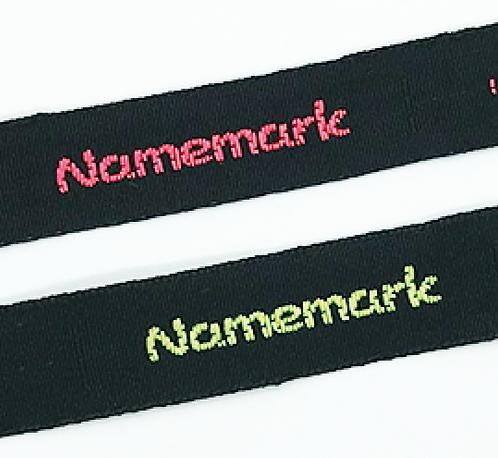 Fluorescent Black Woven Nametape