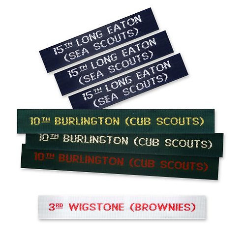 Scout & Guide Woven Nametapes (12mm)