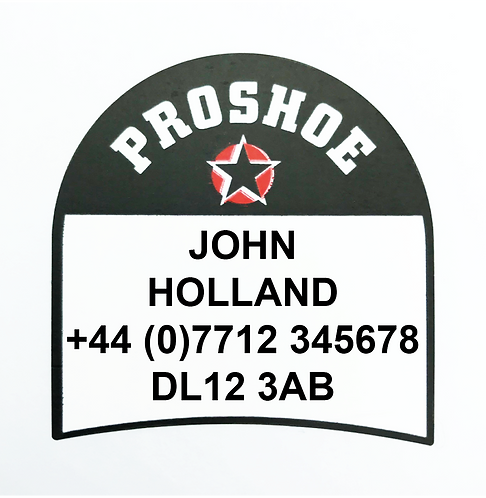 Proshoe Personalised Self Adhesive Shoe Labels
