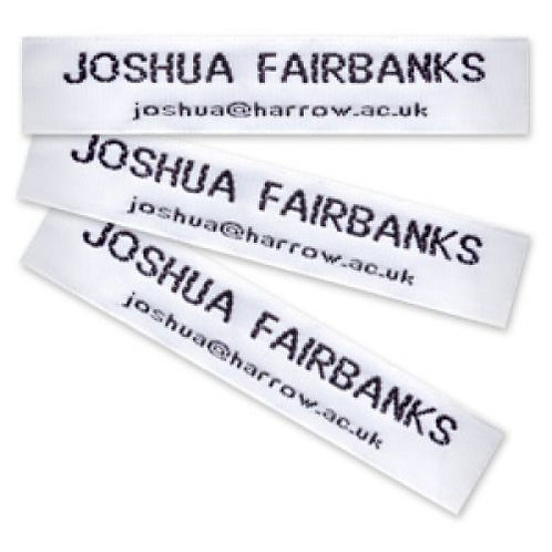Two Line Woven Nametapes (12mm)