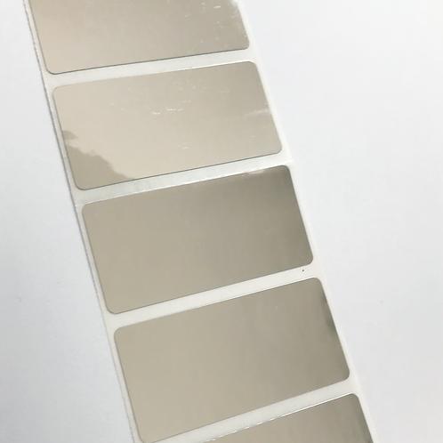 Mirrored Waterproof Address Labels (50mm x 25mm)