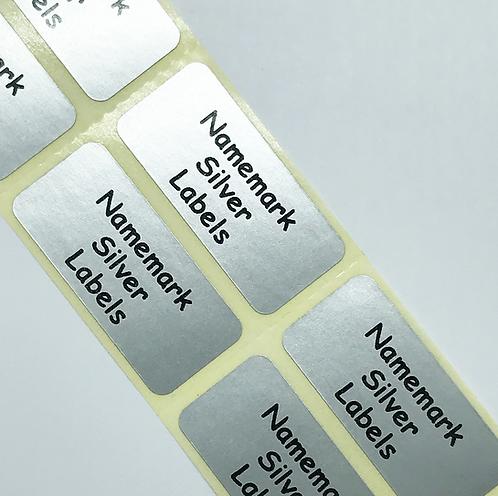 Silver Address Labels (45mm x 20mm)