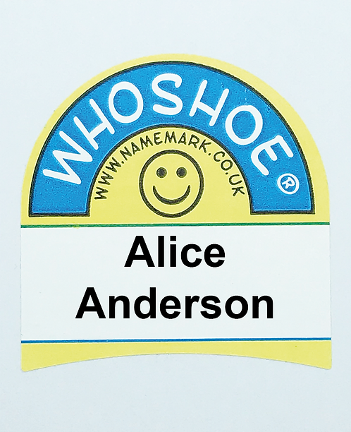 Whoshoe Personalised Self Adhesive Shoe Labels