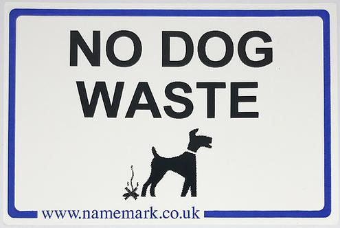 No Dog Waste Wheelie Bin Labels