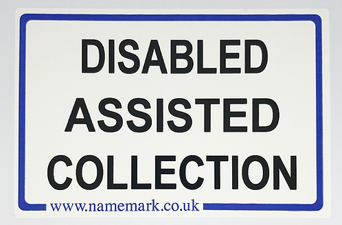 Wheelie Bin Disabled Assisted Collection Labels