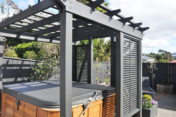 Freestanding pergola designed for spa pool