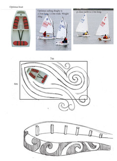 Drawings of show garden designed by Mosaicdesign