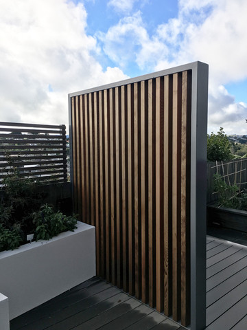 Timber and steel screen