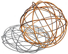 wire ball, wire sphere, steel ball