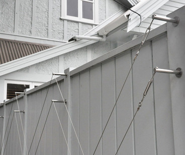 Stainless steel fixings on Kelburn fence