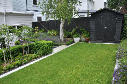 Back garden lawn area