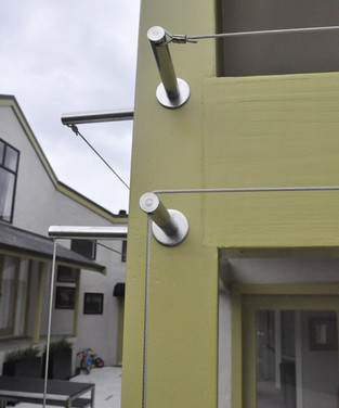 Stainless steel fixings on post