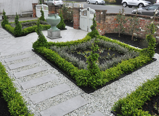 Paving and planting design