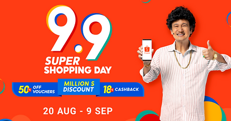 6 More Days Until The End of Shopee's 9/9 Sale!
