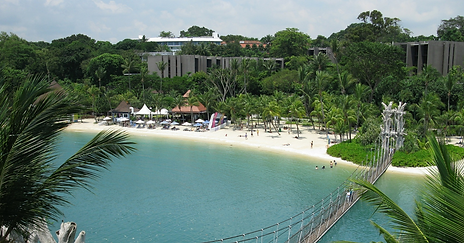 Delighted Singaporeans Flock To Sentosa Beach As Skies Clear