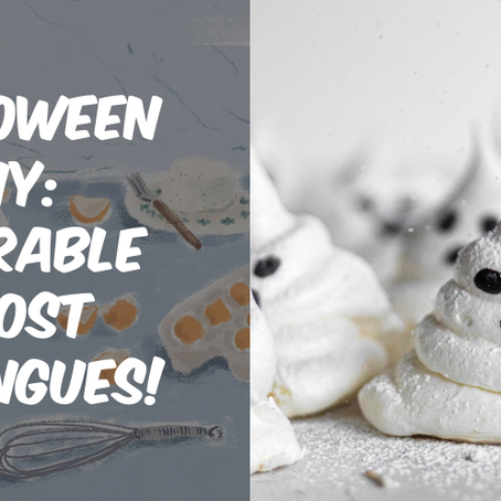 Halloween DIY: Easy To Make And Adorable Ghost Meringues!