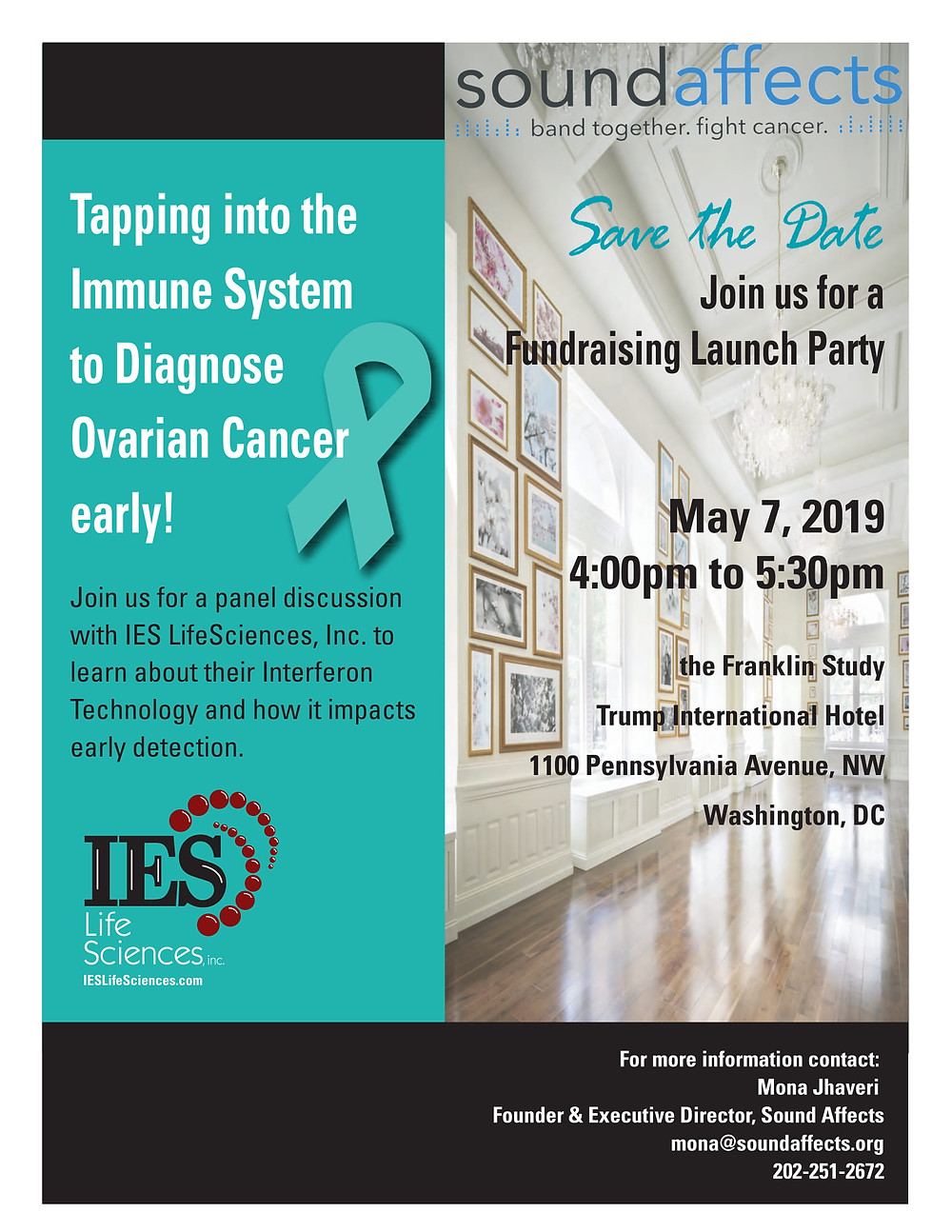 Save the date IES life sciences event