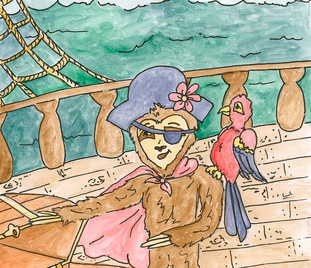 Cici the sloth's pirate adventure