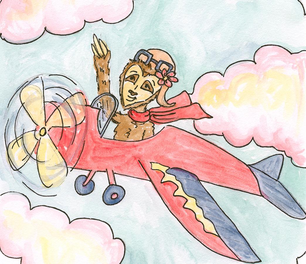 Cici is a pilot!