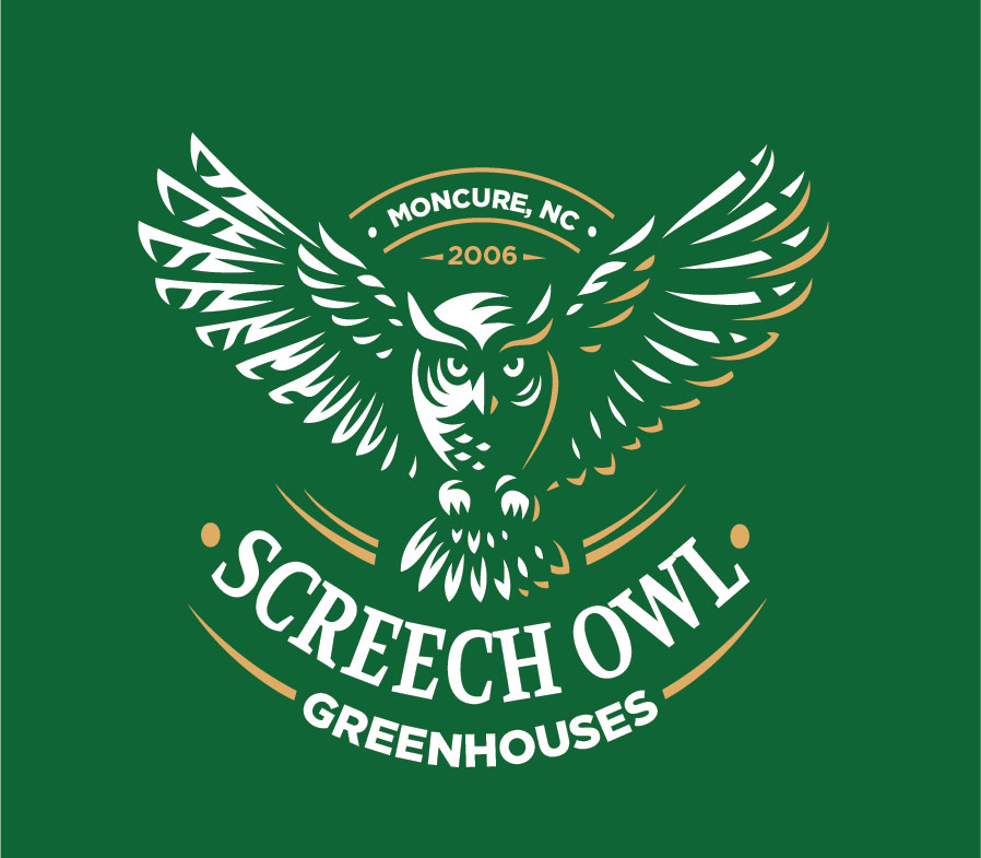 Logo design Screech Owl Greenhouses
