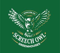 Logo design Screech Owl Greenhouses