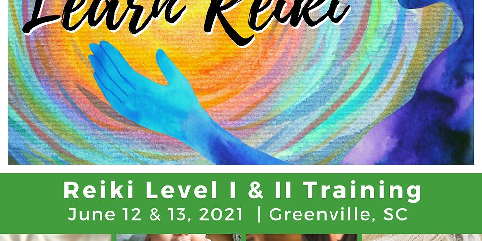 Reiki I and II | June 12 & 13, Greenville, SC