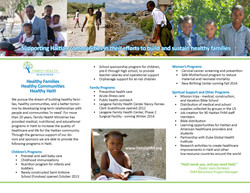 Family Health Ministries Brochure