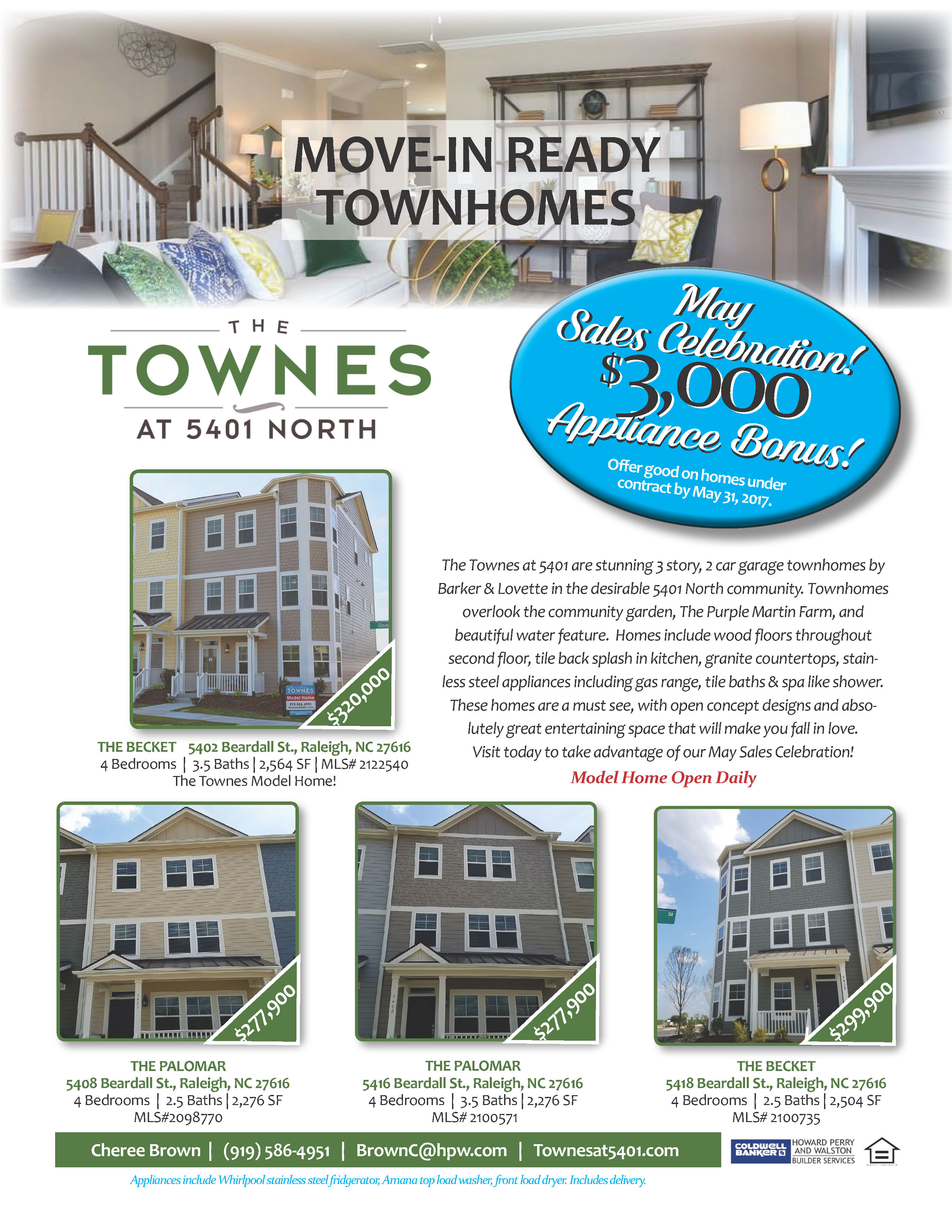 Inventory Flier | New Homes Mktng