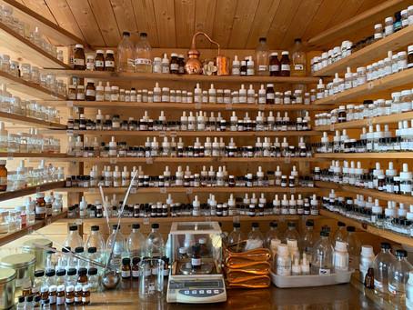 L'orgue du créateur de parfums sur mesure