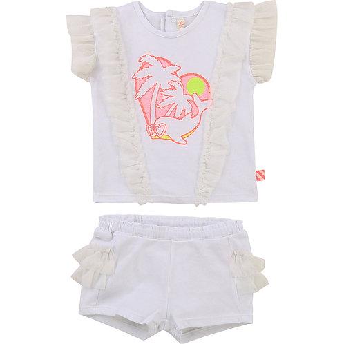 "Billieblush Baby Ensemble T-shirt /Short ""Dauphin"""
