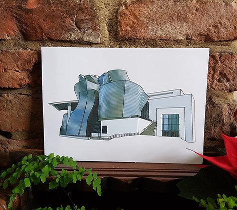 Guggenheim Bilbao Print