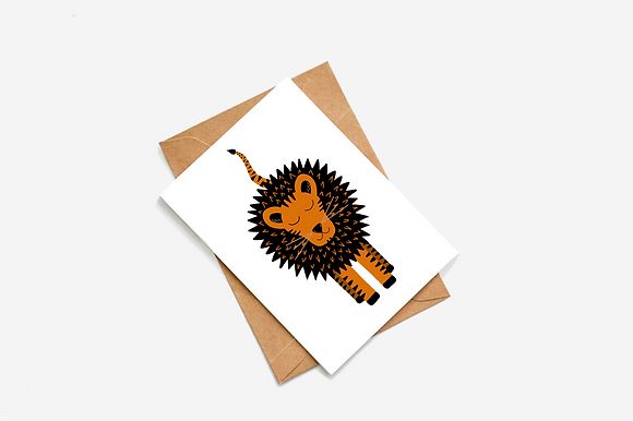 Cute Tiger Illustration card