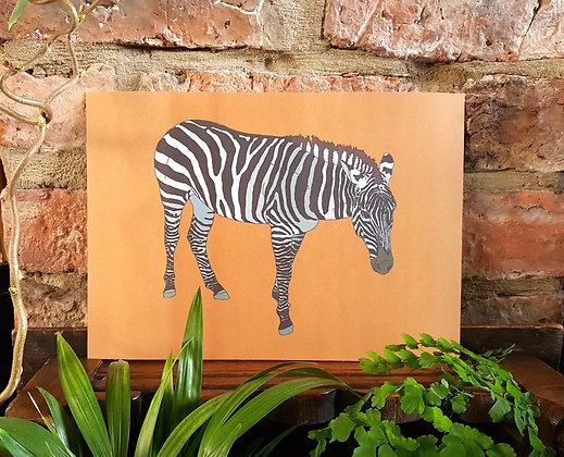 Zebra Print - Orange