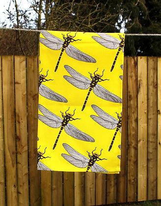 Dragonfly Tea Towel - Yellow