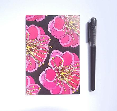 A6 Pink Flower Notebook