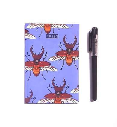 A6 Stag Beetle Notebook