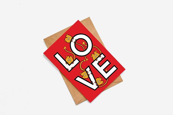 LOVE ft Goblins Card