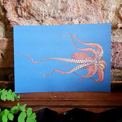 Octopus Print - Blue